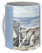 Jack Russel Terrier At The Beach Coffee Mug