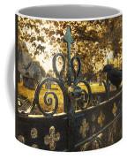 Jackdaw On Church Gates Coffee Mug by Amanda Elwell