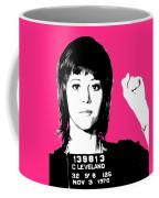 Jane Fonda Mug Shot - Pink Coffee Mug