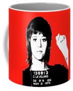 Jane Fonda Mug Shot - Red Coffee Mug