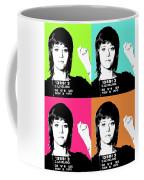 Jane Fonda Mug Shot X4 Coffee Mug