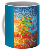 Jerusalem Wailing Wall Original Acrylic Palette Knife Painting Coffee Mug
