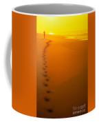 Jogging At Sunset Coffee Mug