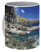 Kayaking Along Coastline Coffee Mug