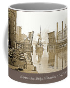 Kilbourn Avenue Bridge, Milwaukee, Wisconsin, 1915-1920, Vintage Coffee Mug