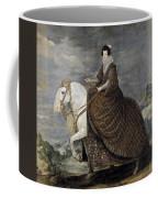 La Reina Isabel De Borbn A Caballo Diego Rodriguez De Silva Y Velazquez Coffee Mug
