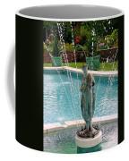 Lady In Fountain Coffee Mug