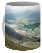 Landscape View Of Llyn Cwellyn And Moel Cynghorion In Snowdonia  Coffee Mug