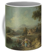 Landscape With A Group Of Figures Fishing Coffee Mug