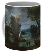 Landscape With A River And Boats Coffee Mug