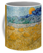 Landscape With Wheat Sheaves And Rising Moon Coffee Mug