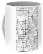 Las Vegas Nevada Usa Light Map Coffee Mug