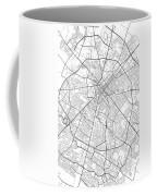 Lexington Kentucky Usa Light Map Coffee Mug