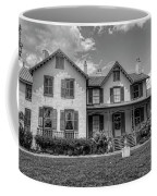 Lincoln Cottage In Black And White Coffee Mug