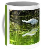 Little Blue Heron Fishing Coffee Mug