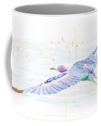 Little Blue Heron In Flight Coffee Mug