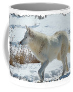 Lone White Wolf Coffee Mug
