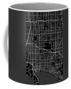 Long Beach California Usa Dark Map Coffee Mug