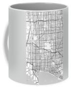 Long Beach California Usa Light Map Coffee Mug