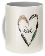 Feathers Of Love Coffee Mug