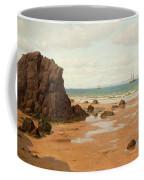 Low Tide At The Ris Beach Coffee Mug