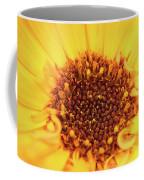 Macro Shot Of A Yellow Flower. Coffee Mug