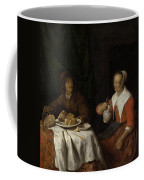 Man And Woman At A Meal Coffee Mug