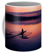 Man Rowing On Montlake Cut Coffee Mug