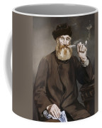 Man Smoking A Pipe Coffee Mug