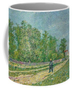 Man With Spade In A Suburb O Coffee Mug