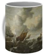 Maritime Scene With Stormy Seas Coffee Mug