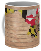 Maryland Rustic Map On Wood Coffee Mug