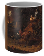 Melchior De Hondecoeter In The Manner Of The Artist, Wild Birds In A Park Landscape. Coffee Mug