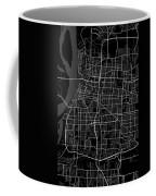 Memphis Tennessee Usa Dark Map Coffee Mug
