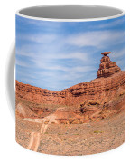 Mexican Hat Rock Monument Landscape On Sunny Day Coffee Mug