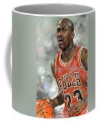 Michael Jordan Coffee Mug by Ylli Haruni