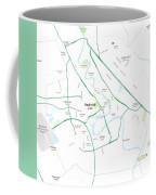 Minimalist Modern Map Of Baghdad, Iraq 5 Coffee Mug