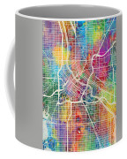Minneapolis Minnesota City Map Coffee Mug