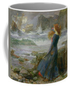 Miranda Coffee Mug by John William Waterhouse