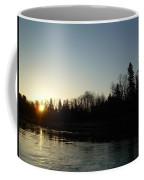 Mississippi River Sunrise Reflection Coffee Mug