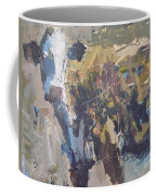 Modern Abstract Cow Painting Coffee Mug by Robert Joyner