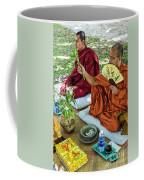 Monks Blessing Buddhist Wedding Ceremony In Cambodia Coffee Mug