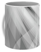 Monochrome White Abstract Vector Background, Gray Transparent Wa Coffee Mug
