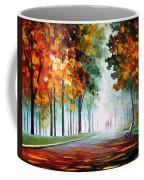Morning Fog - Palette Knife Oil Painting On Canvas By Leonid Afremov Coffee Mug