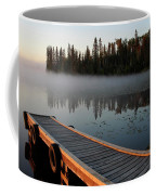 Morning Mist Over Lynx Lake In Northern Saskatchewan Coffee Mug