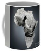 Mother Africa With A Rhino  Coffee Mug