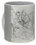 Mother With Sick Child 1878 Fig 29 9h22 6 Tg Vasily Perov Coffee Mug