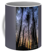 Motion Blurred Trees In A Forest Coffee Mug