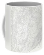 Mount Kosciuszko Art Print Contour Map Of Mount Kosciuszko In Au Coffee Mug