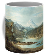 Mountain Landscape With Indians Coffee Mug